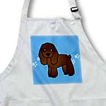 click on Cute Chocolate Cocker Spaniel Blue with Pawprints to enlarge!