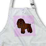click on Cute Chocolate Cocker Spaniel Pink with Pawprints to enlarge!