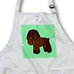 click on Cute Chocolate Cocker Spaniel Green with Pawprints to enlarge!
