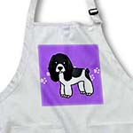 click on Cute Black and White Cocker Spaniel Purple with Pawprints to enlarge!