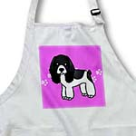 click on Cute Black and White Cocker Spaniel Pink with Pawprints to enlarge!