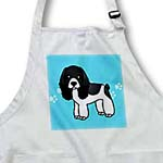 click on Cute Black and white Cocker Spaniel Blue with Pawprints to enlarge!