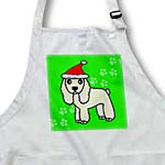 click on Cute Buff Cocker Spaniel Green Paw Background with Santa Hat to enlarge!