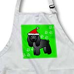 click on Cute Black Cocker Spaniel Green Paw Background with Santa Hat to enlarge!