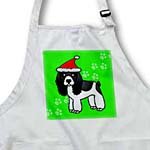 click on Cute Black and White Cocker Spaniel Green Paw Background with Santa Hat to enlarge!