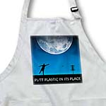 click on Putt Plastic In Its Place 6 silhouette of frisbee disc golfer putting under the moon to enlarge!