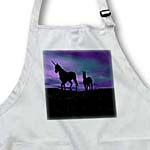 click on Unicorns In Silhouette Against A Painted Sky to enlarge!