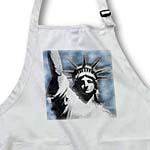 click on Lady Liberty digitally stylized Statue of Liberty in gray and blue colors to enlarge!