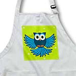 click on Cute Blue Flying Owl Under Stars to enlarge!