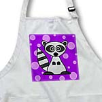 click on Cute Cartoon Raccoon Purple Dot Background to enlarge!