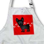 click on Cute Black Brindle French Bulldog Red with Pawprints to enlarge!