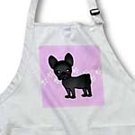 click on Cute Black Brindle French Bulldog Pink with Pawprints to enlarge!