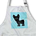 click on Cute Black Brindle French Bulldog Blue with Pawprints to enlarge!