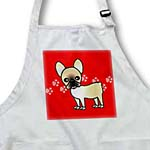 click on Cute Black Masked Fawn Cream French Bulldog Red with Pawprints to enlarge!