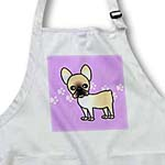 click on Cute Black Masked Fawn Cream French Bulldog Purple with Pawprints to enlarge!