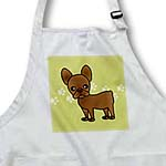 click on Cute Chocolate Brown French Bulldog Green with Pawprints to enlarge!