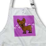 click on Cute Chocolate Brown French Bulldog Purple with Pawprints to enlarge!