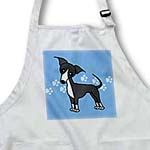 click on Cute Grey Blue Italian Greyhound Blue with Pawprints to enlarge!