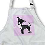 click on Cute Grey Blue Italian Greyhound Pink with Pawprints to enlarge!