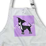 click on Cute Grey Blue Italian Greyhound Purple with Pawprints to enlarge!