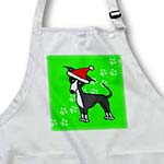 click on Cute Grey Blue Italian Greyhound Green with Santa Hat to enlarge!