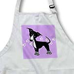 click on Cute Black Italian Greyhound Purple with Pawprints to enlarge!