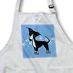 click on Cute Black Italian Greyhound Blue with Pawprints to enlarge!