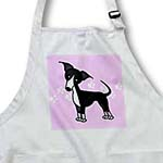 click on Cute Black Italian Greyhound Pink with Pawprints to enlarge!