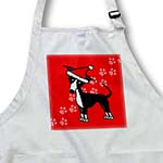 click on Cute Black Italian Greyhound Red with Santa Hat to enlarge!