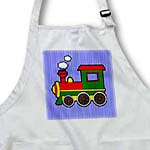 click on Cute Train Red Green Yellow Blue Stripe Background to enlarge!