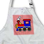 click on Cute Train Red Blue Yellow Red Stripe Background to enlarge!