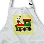 click on Cute Train Red Green Yellow Yellow Stripe Background to enlarge!