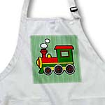 click on Cute Train Red Green Yellow Green Stripe Background to enlarge!