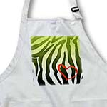 click on Green and Black Zebra Print with Heart to enlarge!