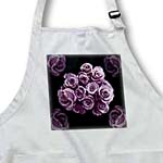 click on Pastel lilac purple rose bouquet on black background to enlarge!