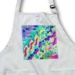 click on Abstract flames in rainbow hues of blue purple pink and yellow to enlarge!