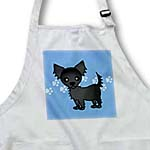 click on Cute Black Longhaired Chihuahua Blue with Pawprints to enlarge!