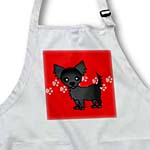 click on Cute Black Longhaired Chihuahua Red with Pawprints to enlarge!