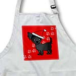 click on Cute Black Longhaired Chihuahua Red with Santa Hat to enlarge!