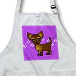 click on Cute Chocolate Brown Longhaired Chihuahua Purple with Pawprints to enlarge!