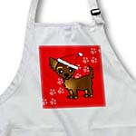 click on Cute Chocolate Brown Longhaired Chihuahua Red with Santa Hat to enlarge!