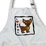 click on I Love Chocolate Brown Longhaired Chihuahua to enlarge!