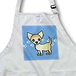 click on Cute Cream Tan Longhaired Chihuahua Blue with Pawprints to enlarge!