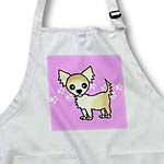 click on Cute Cream Tan Longhaired Chihuahua Purple with Pawprints to enlarge!