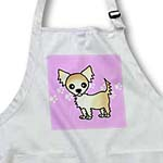 click on Cute Cream Tan Longhaired Chihuahua Pink with Pawprints to enlarge!