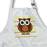 click on Cute Brown Owl Cream Taupe Stripe to enlarge!