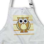 click on Cute Owl Cream Taupe Stripe to enlarge!