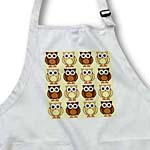 click on Cute Brown Owl Print Taupe to enlarge!