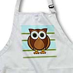 click on Cute Brown Owl Blue Green Stripe to enlarge!