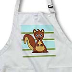 click on Cute Brown Squirrel Print Blue Green Stripe to enlarge!